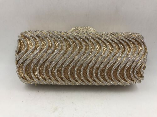Long Shape Cluches Purses Handmade Evening Bags Crystal Clutch Purse For Wedding