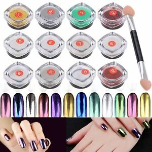 Espejo polvo u as efecto cromo pigmento glitter mirror powder nail art 2g ebay Polvo espejo unas