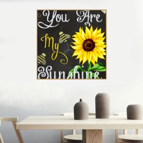 5D Diamante Taladro Completo mosaico Art Craft Eres Mi Sunshine Puntada kits de ocio