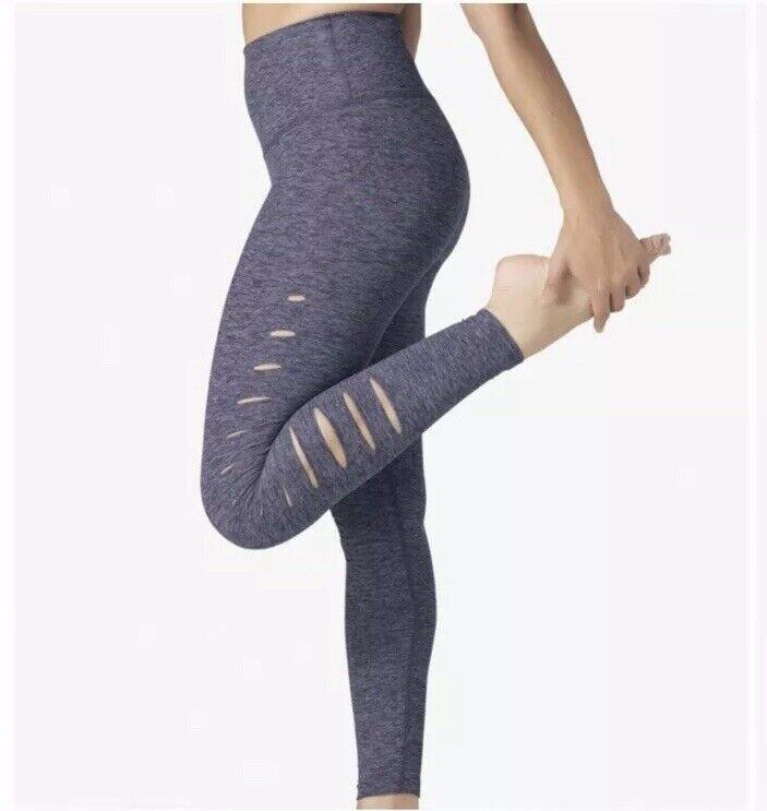 Beyond Yoga So Slashed Spacedye High Rise Leggings XS Wisteria bluee