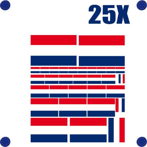 25 stickers autocollants en vinyl et mélange de tailles assortiment PAYS BAS