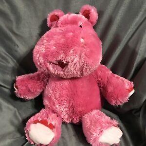Hallmark-LOLA-Valentine-Love-Hippo-Pink-Talking-Soft-Fur-Plush-Wiggle-Ears-Rare
