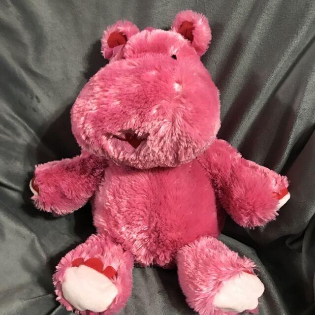 Hallmark LOLA Valentine Love Hippo Pink Talking Soft Fur Plush Wiggle Ears Rare!