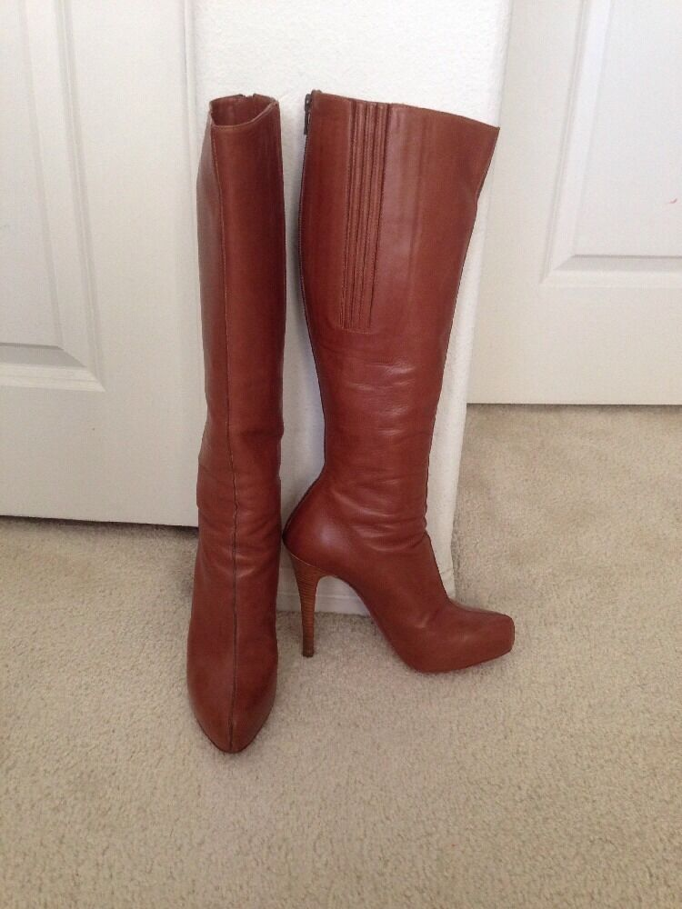 Christian Louboutin  Light Brown Alta Ariella Knee High Boots 37