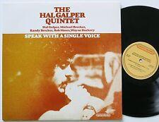 HAL GALPER QUINTET SPEAK WITH A SINGLE VOICE ORIG CENTURY RECORDS LP