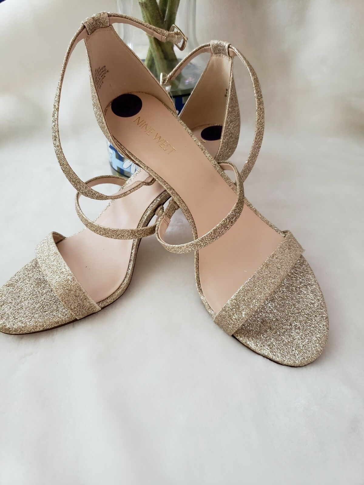 Nine West or Shimmer Talons Hauts Sandales NW 7 itsoff New SZ8.5 M