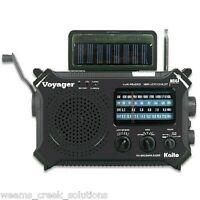 Kaito KA500 Voyager Emergency Radio Solar Crank AC Adapt Black