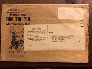 Vintage RIN TIN TIN Trading Post Rare MEMBERSHIP KIT Envelope
