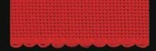 Zweigart 1 Metre Red Aida Band 5cm//2 Inch With a Scalloped Edging