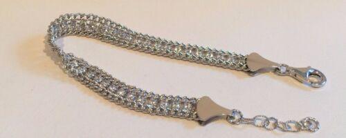 "925 Sterling Silver italien Tennis Bracelet avec 3.50 Ct Diamond//Réglable 8/"""