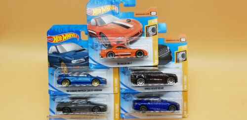 Hot Wheels novedades 2020 HW turbo 5er set audi rs5 Mazda subaru Range Rover