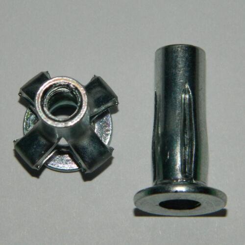 50 Stk. Presslaschen Einnietmuttern M8 Stahl verzinkt klemmt von 0,5-7,1 mm
