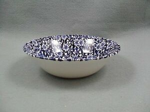 Queen-039-s-Victorian-Calico-Blue-Oatmeal-Bowl