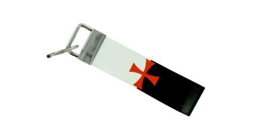 Keychain Stripe clés Lanyard Drapeau Porte-clés Anneau Voiture JDM Remote Chevaliers Templiers