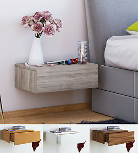 Image Is Loading Vcm Bedside Table Storage Unit Wall Floating Shelf