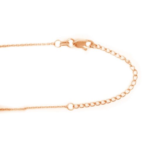 14K Yellow Rose Pink or White Gold 3 Inch Chain Necklace Extender