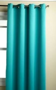"1 PANEL TURQUOISE SOLID FOAM LINED BLACKOUT WINDOW CURTAIN GROMMET 55""X84"" K60"