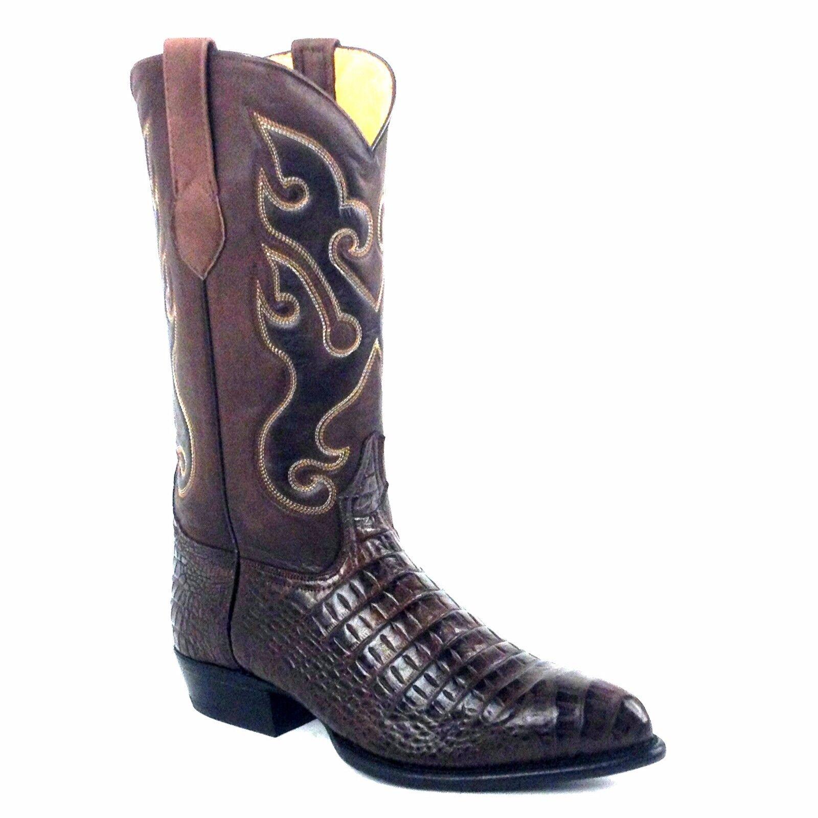 JUSTIN USA BLACK CALFSKIN LEATHER WESTERN BOOTS 3040 Tobias Men's 12 Vibram sole