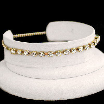 "Life Guar Sales Of Quality Assurance Jewelry & Watches Nice 11"" White 3mm Austrian Crystal Tennis 14k Gold Gl Anklet Foot Chain"