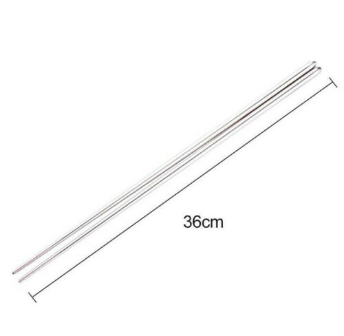"""1 Pair Extra Long 14/"""" Stainless Steel Hot Pot Chopsticks Cooking Frying Noodle"""