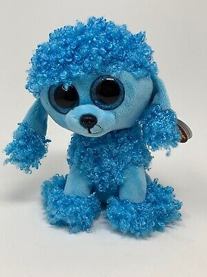 """6/"""" TY Beanie Boos Glitter Eyes Multicolor Poodle Dog Plush Stuffed Toys With Tag"""