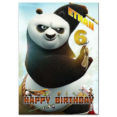 Personalizado Kung Fu Panda Cumpleaños cualquier ocasión Tarjeta