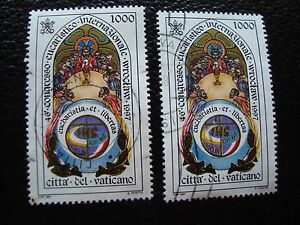 VATICANO-sello-yvert-y-tellier-n-1080-x2-matasellados-A28-stamp-T