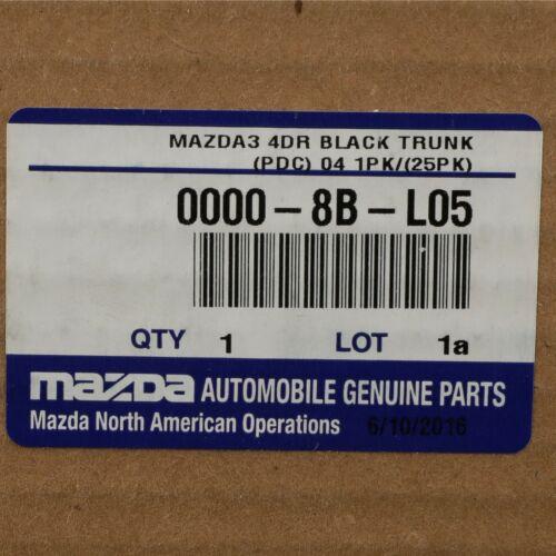 2004-2009 Mazda 3 Sedan Black Carpeted Cargo Mat Liner OEM NEW Genuine