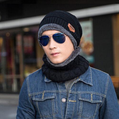 Winter Beanie Hat Scarf Set Fleece Warm Balaclava Snow Ski Cap for Kid Men Women
