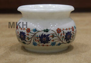 Pottery-Art-marble-inlay-work-floral-Marquetry-Flower-Vase