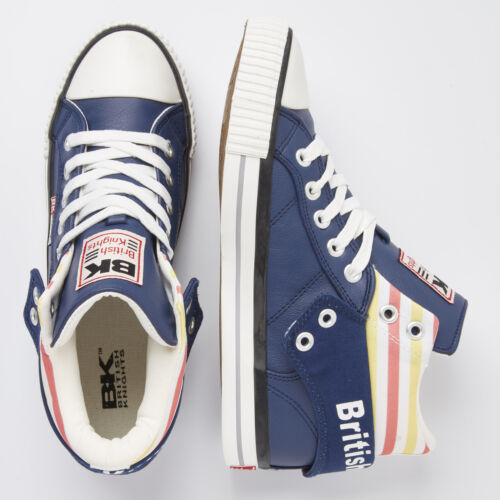 British Knights ROCO Messieurs High-top-Chaussure Sneaker-Bleu foncé//rouge//jaune 39