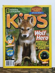 National Geographic Kids National Parks Issue Wolf Hero ...