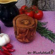 6 er Untersetzer Set für Gläser Olivenholz Holz Tischschoner