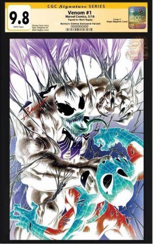 VENOM #1 CGC 9.8 SS Mark Bagley Exclusive Variant Cover C 2018 Marvel  NM