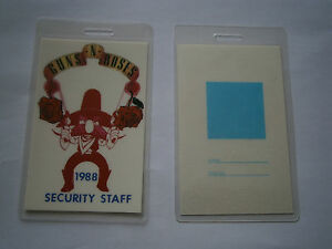 Guns-N-Roses-Unused-1988-Laminated-SECURITY-STAFF-Backstage-Tour-Pass