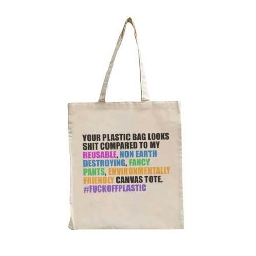 Funny Shopping Bag For Women Eco Environmentally Friendly Re-Usable