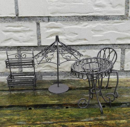 URBAN GARDENING casa delle bambole mobili mobili da giardino in metallo 1:12 1//12 metallo elfi GIARDINO