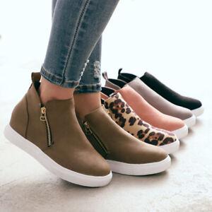 Womens-Pumps-Wedge-Hidden-Heel-Loafers-Sneakers-Slip-On-Trainer-Casual-Shoes-ZIP