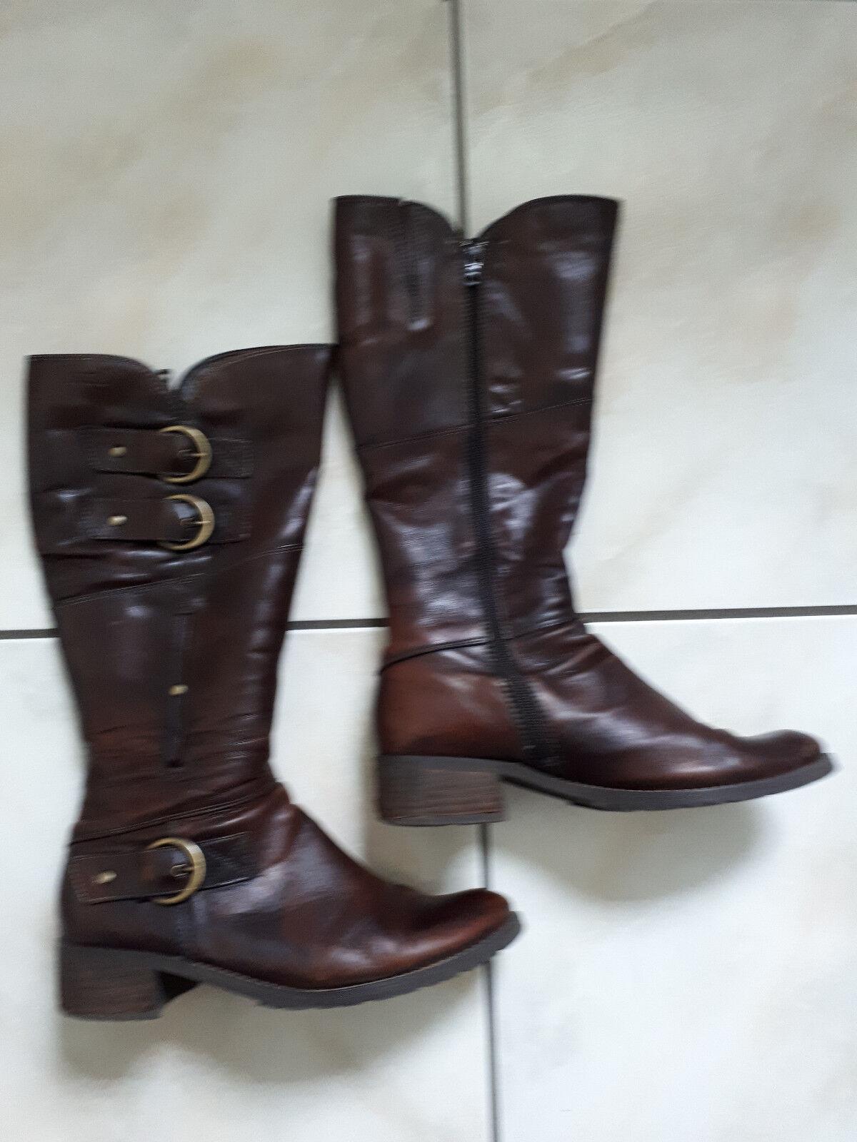 Damen Stiefel Bama Lederimitat Klassische Stiefel
