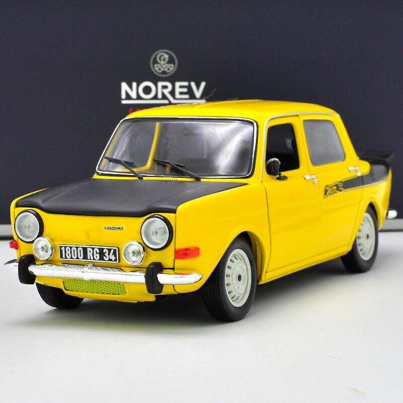 1 18 NOREV Simca 1000 Rallye 2 SRT Alloy Car Model Yellow Collection