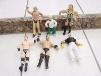 WWE WWF WCW 6 Wrestling Figures Lot one short figure