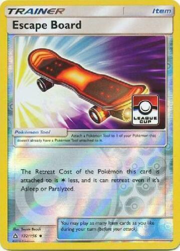 Pokemon TRAINER ESCAPE BOARD 122//156 REVERSE HOLO NM CARD PROMO LEAGUE