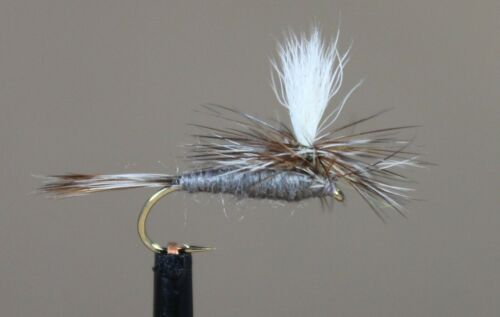 Bass, Bream, Trout, Steelhead Parachute Adams x 6 Fly Fishing Flies