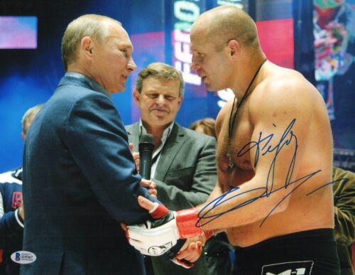 Fedor Emelianenko Signed 11x14 Photo BAS COA Autograph Picture w// Vladimir Putin