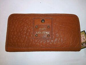 JUICY-COUTURE-LEATHER-BROWN-SLIM-WALLET-NWT-SUPER-CUTE-AND-VERSATILE