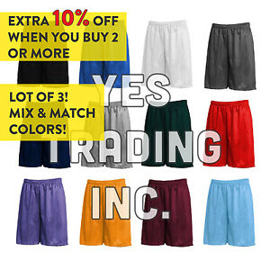Basic Mesh Shorts Pockets Jersey pants S-5XL Basketball Gym Dri-Fit Fitness NWT