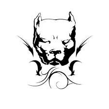 Pitbull Aufkleber Sticker 14x14cm Heckscheibe Tuning  schwarz Bulldogge Tribal
