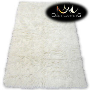 Image Is Loading Gy Wool Flokati Rug Fluffy Carpet Cream
