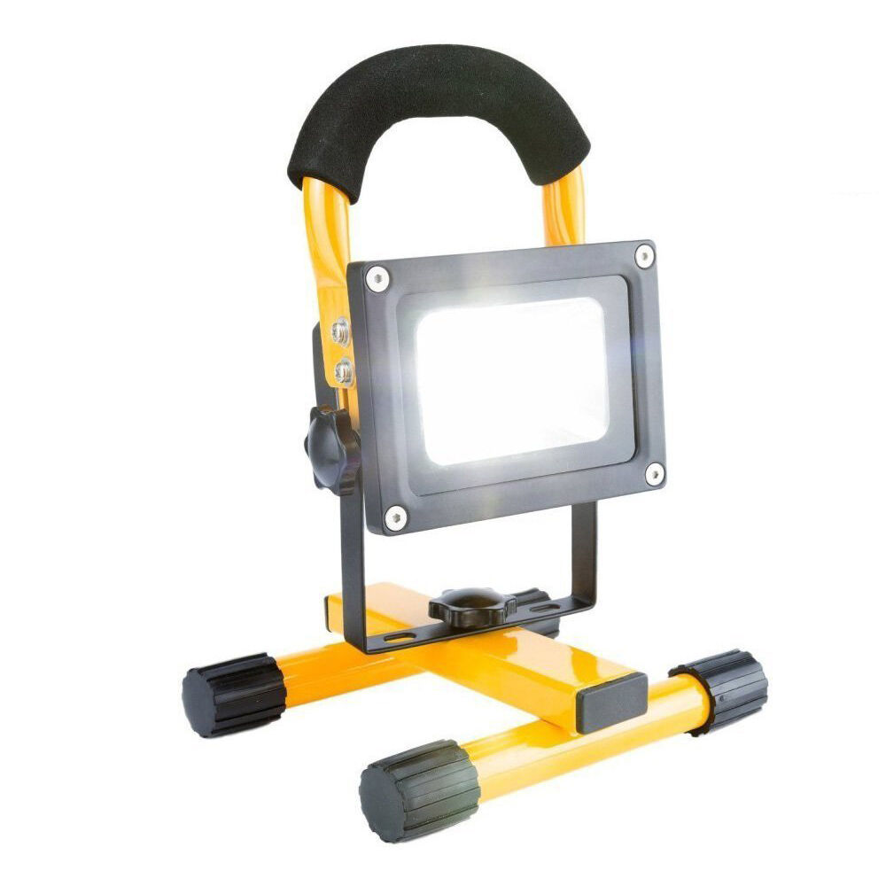 PORTABLE RECHARGABLE FLOOD LIGHT LED WORK SITE LAMP CAMPING GARDEN GARDEN GARDEN CAR CHARGER 32715b
