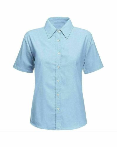 Girls Short Sleeve School Shirt Collared Casual Uniform Twin Pack Blouse Top